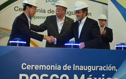 Inauguran nueva planta de acero en Tamaulipas