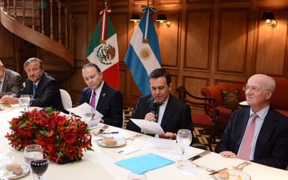 México y Argentina   acuerdan  impulsar  inversiones