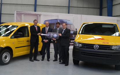 VW reafirma crecimiento con entrega de unidades a DHL