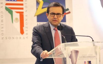 Ildefonso Guajardo llama a potencializar el TLCAN