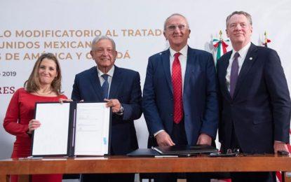 Con la versión final del T-MEC, Estados Unidos, México y Canadá sellan pacto